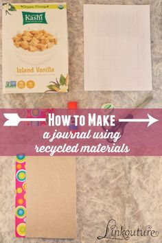 Cereal box crafts turn a cereal box into a notebook general how to make a journal using recycled materials ccuart Images