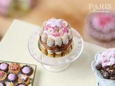 Pink Candy Charlotte Miniature Food in 12th by ParisMiniatures