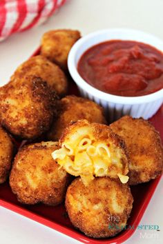 Fried Mac & Cheese Bites...the perfect recipe for your kids' after school snack or your next Happy Hour!