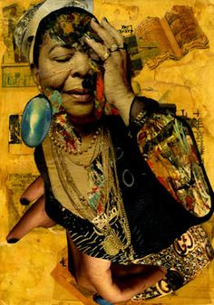 "Saatchi Art Artist CARMEN LUNA; Collage, ""45-Collagemania. Cesaria Evora."" #art http://www.saatchiart.com/art-collection/Assemblage-Collage/Collagemania-CARMEN-LUNA/71968/46137/view"