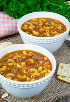 This Beef and Tomato Macaroni Soup recipe combines tasty tomato, ground beef and pasta to create a delicious, hearty soup that your family will love! recipes with ground beef Beef Soup Recipes, Ground Beef Recipes, Cooking Recipes, Recipes Using Beef Broth, Goulash Recipes, Casserole Recipes, Yummy Recipes, Chicken Recipes, Tomato Macaroni Soup Recipe