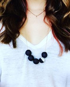 We always like to go outside of the box at Moorea Seal and every piece of jewelry needs to be special and in this case we love how unique the Black Stoneware Necklace is! Come gets yours today before it's too late.