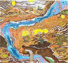 Mapa (imaginario) Rio Pichi Leufu - (imaginary) map of Pichi Leufu River - Ingrid Roddick