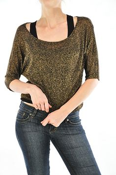 Number One Fashions-Lurex top $19.99