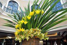 simple hotel lobby flowers