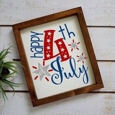 of July Sign-Wood Sign-Summer Decorations-Independence Day Decoration-Patriotic Decor-Farmhouse Decor-July Decoration-Home Decor Fourth Of July Decor, 4th Of July Decorations, 4th Of July Party, July 4th, Holiday Decorations, Holiday Crafts, Diy Signs, Wood Signs, Independence Day Decoration