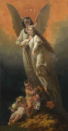1863 Mihaly Zichy (Hungarian Romantic; 1827-1906) ~'Allegorical Composition'