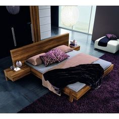 Rossetto Gap Platform Bed Black, Size: Queen - RST146-11