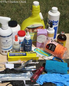 Chicken First-Aid Kit supplies