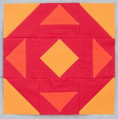 Virtual Quilting Bee Block Tutorial by Pitter Putter Stitch, via Flickr
