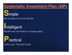 """talk2paps: All the details about """"Systematic Investment Plan""""..."""