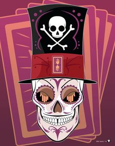 Dr Facilier Disney méchant sucre crâne imprimer des impression 11 x 14