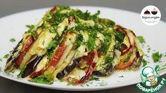 ***** Баклажаны с овощами под сметанным соусом (баклажаны, перец слад., помидоры, лук, картофель, майонез, сыр, чеснок, сметана) - больше на овощное рагу по вкусу похоже
