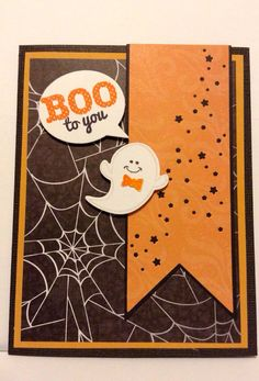 Halloween Card with Ghost by alcove927 on Etsy, $2.50