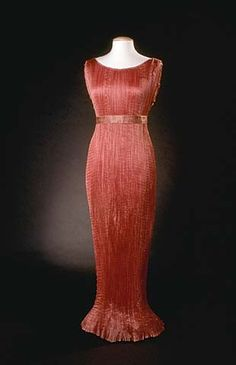 Fortuny pink gown