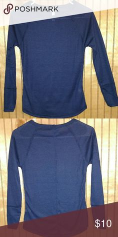 Navy knit long sleeve NWOT Brand new never worn I took the tags off and then realized it's the wrong size. There is stiching down the back of the shirt. Please ask any questions that you may have Tops Tees - Long Sleeve