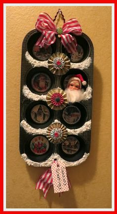 Christmas Altered Vintage Muffin Tin