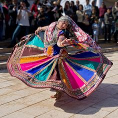 colourful indian folk dance...