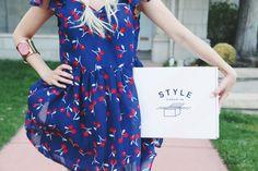 Summer style #dress #cherrydress #blackheels #braidedhair