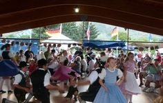 Crowds of dancers at Biergarten Festival. This year's event runs July 13 & 14, 2012. #Colorado