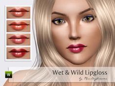 Wet and Wild Lipgloss by MissDaydreams  http://www.thesimsresource.com/downloads/1171860