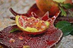 Ceramic pomegranate lace bowl on Etsy, $24.00