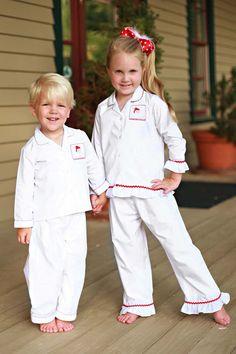 southern tots smocked santa christmas pajamas for boys and girls kids christmas pajamas holiday pajamas