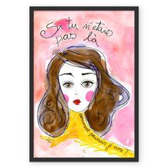 Si tu n'etais pas là - reprodução fine art de aquarela de Carol Dib | Sementinhas Cor-de-Rosa na Colab55.