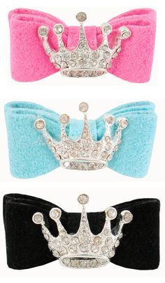 ༻⚜༺ ❤️ ༻⚜༺ Designer Luxury Pet Hair Bows | Ultra Suede Crown Swarovski Hair Bows | The Sassy Pup (Online Puppy Boutique) ༻⚜༺ ❤️ ༻⚜༺