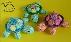 Amigurumi turtles, by Nelumbonita