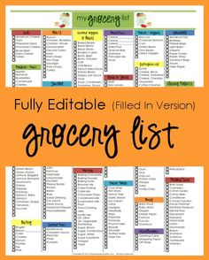 Grocery List | Organizing Homelife