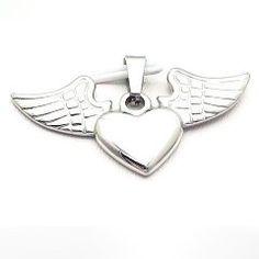 Ocelový přívěsek srdce s křídly Bottle Opener, Phone, Rings, Key Bottle Opener, Bottle Openers, Telephone, Ring, Mobile Phones, Jewelry Rings