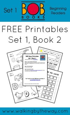 Free BOB Book Printables for Set 1, Book 2 from Walking by the Way
