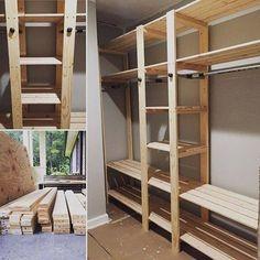 Favorite Brag Posts of 2015 & Ana White The post Favorite Brag Posts of 2015 Closet Redo, Closet Remodel, Closet Bedroom, Closet Storage, Closet Space, Pantry Storage, Diy Wardrobe, Built In Wardrobe, Wardrobe Ideas