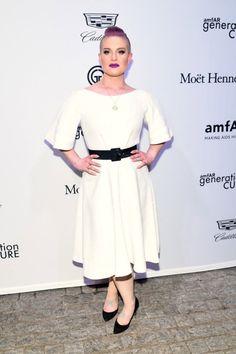 Kelly Osbourne Looks like a Drag Nun at the amfAR generationCURE Solstice