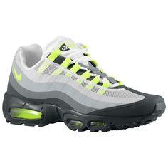 newest a9f00 d1002 Nike Air Max 95 No Sew Hombre Antracita   Verde Limao   Gris Claro   Lobo