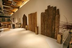 Reclaimed wood headboards--I like! Reclaimed Wood Headboard, Latex Mattress, Organic Architecture, Best Mattress, Natural Latex, Headboards, Store Design, Better Life, Showroom