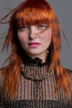 Crazy hair colours: Colour trends to try 2016 Hair Styles 2014, Medium Hair Styles, Tiger Stripes Hair, Fudge Hair, Side Swept Curls, Mid Length Hair, Coloured Hair, Crazy Hair, Braid Styles