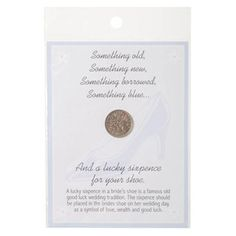 Lucky Sixpence for Bridal Shoe