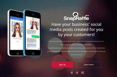 #Internet #Gamificación #negocios SnapRaffle, para implicar a clientes en la creación de fotos para publicar en redes sociales