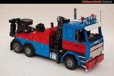 Scania 142 V8 Wrecker : A LEGO® creation by Bricksonwheels MOC : MOCpages.com