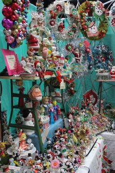 Kitschy Christmas by Magpie Ethel. This is quite the gorgeous collection! Christmas In Heaven, Christmas Past, Christmas Items, Beautiful Christmas, Christmas Holidays, White Christmas, Christmas Images, Xmas, Retro Christmas Decorations