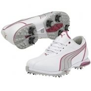 Puma PG Royal Tee Womens Golf Shoes White Silver Cabaret