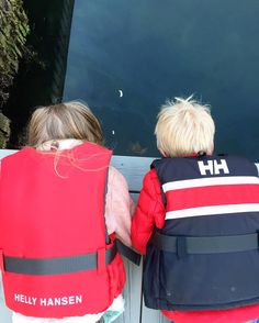 Kids staying safe and active in HH life vests!  Love the sailing stripes!  Photo from @ lfagerbakke Instagram