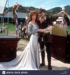 Robin Hood (in tights) and wedding dress Maid Marian