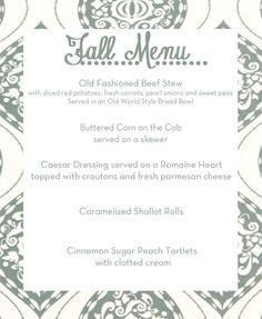 Planning the perfect fall wedding #menu