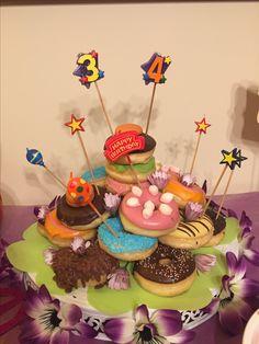Doughnut cake Donunt birthday cake