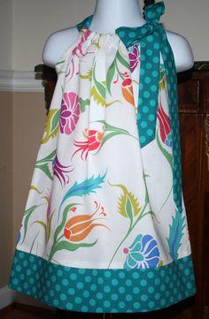 Pillowcase+dress+SALE+Michael+Miller+turkish+by+BlakeandBailey,+$15.00