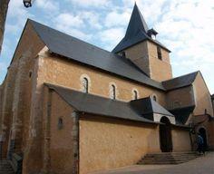 Eglise Saint-Sylvestre . Malicorne-sur-Sarthe. Pays de la Loire