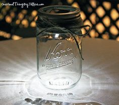Solar light in a Mason / Kerr jar. How awsome is this!
